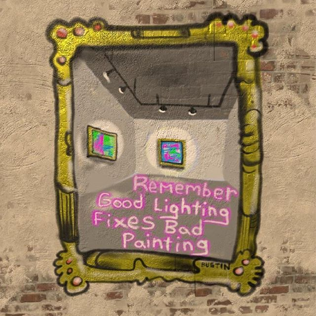 Here's the latest tip for all you aspiring contemporary painters! Good lighting fixes bad painting! As a professional working in the arts this is 100% FACT. #kylebustin #contemporaryart #contemporarypainting #canadianpainting #canadianartist #canadianart #paint #digitalpainting #arttips #howtoart #rbcnextyearbaby #painting #goodlighting #artsprofessionals