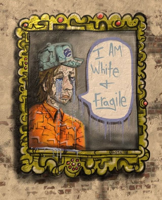 Crying my white tears cuz I'm delicate like porcelain. #whitetears #whitefragility #constantlylearning #contemporaryart #contemporarypainting #canadianart #canadianartist #painting #digitalpainting #kylebustin #colonialwhitemale #virtualreality #oculusrift