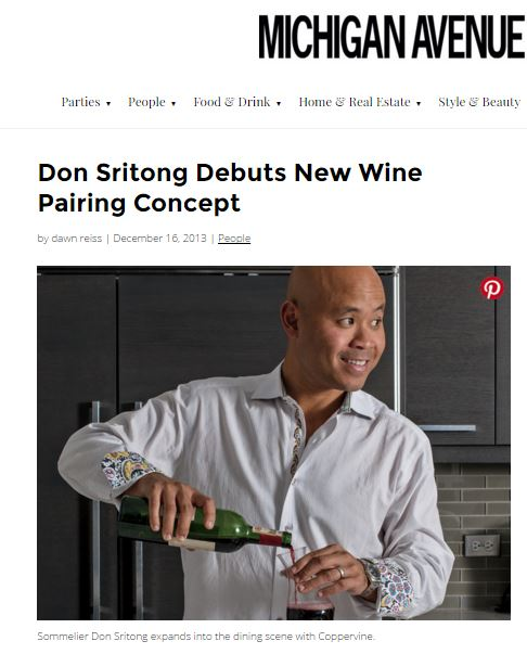 Boutique wine store owner  Don Sritong brings his expertise to the restaurant world.