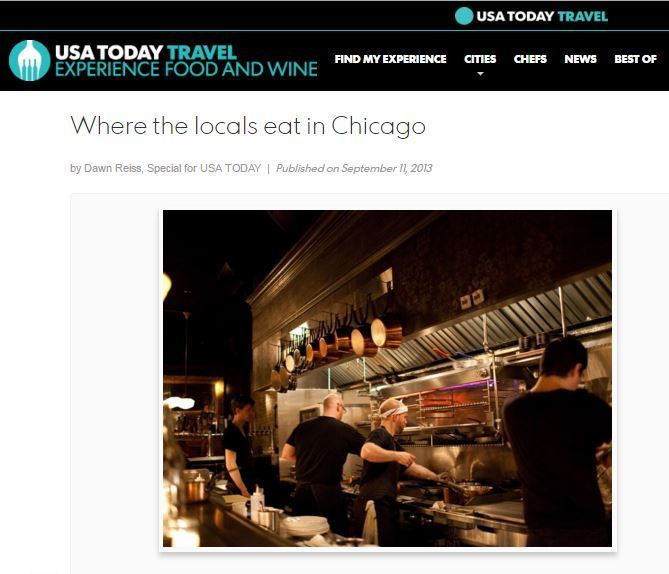 Where Chicagoans like to eat in this foodie city.