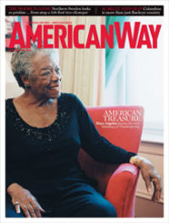 """""""Would you like some water?"""" Dr. Maya Angelou asks as she welcomes me into her New York City home. """"Or the world's greatest apple juice?"""""""