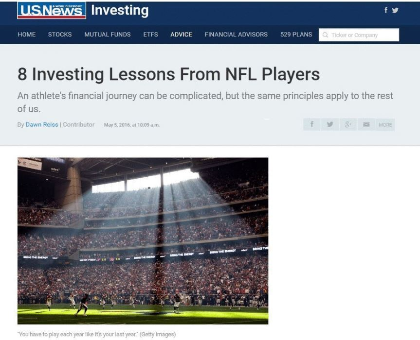 "Plenty of stories have circulated about NFL athletes who are bankrupted two years after they retire, or undergoing financial stress. There are plenty of similar tales of woe about how restaurant owners or tech startups fail in their first year.  ""Every athlete is essentially an entrepreneur,"" says former NFL linebacker Dhani Jones, who now owns a Cincinnati-based private equity company. ""When you get out the league, you're making the transition into the real world, but ultimately you've just sold your last business."""