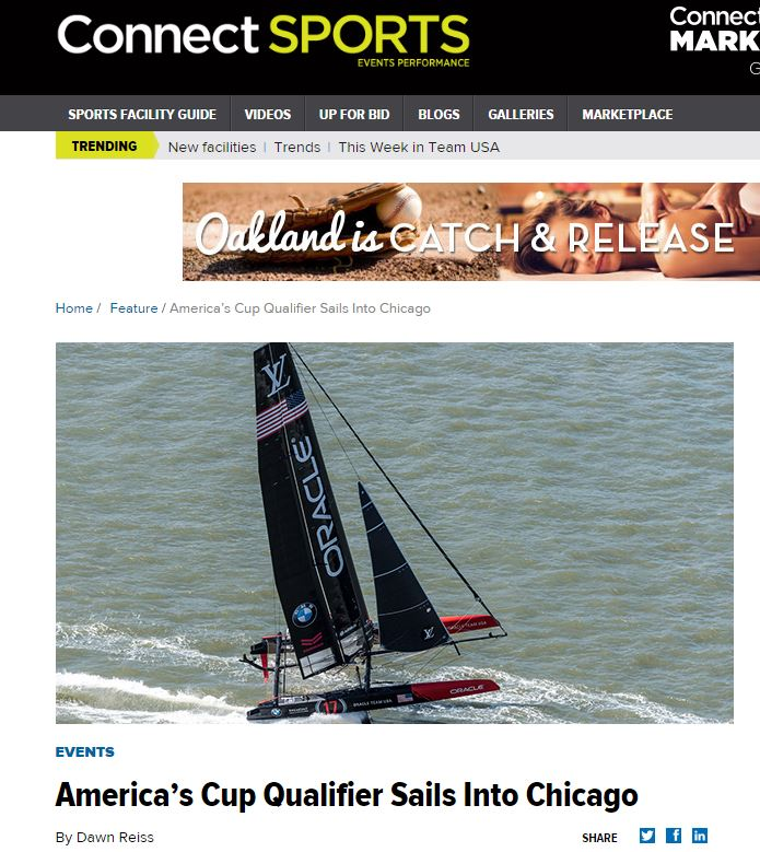 When it comes to sailing, Tod Reynolds, event director for the Louis Vuitton America's Cup World Series Chicago event, says racing a hydrofoil—a sailboat that skims the surface—is like watching NASCAR on the water. The rocket ship-like sailboats will likely break speed records on Lake Michigan during the June 10-12 event.