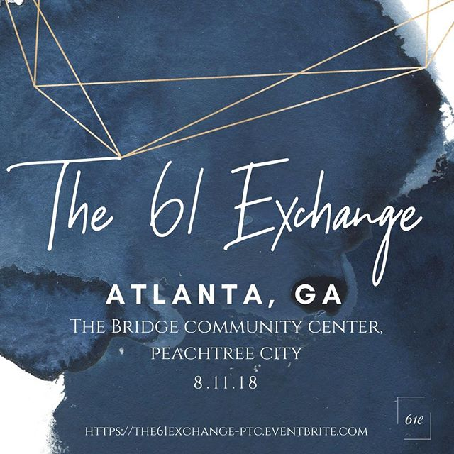 @the61exchange Atlanta Conference registration is now LIVE! You don't want to miss this incredible day of worship, teachings, and stories of beauty from ashes. Gather your ladies and join us!