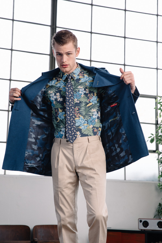 Model - Noah Teicher (LA Models)  Made to Measure Shirt, Pants and Coat  Klein Epstein & Parker - Portland