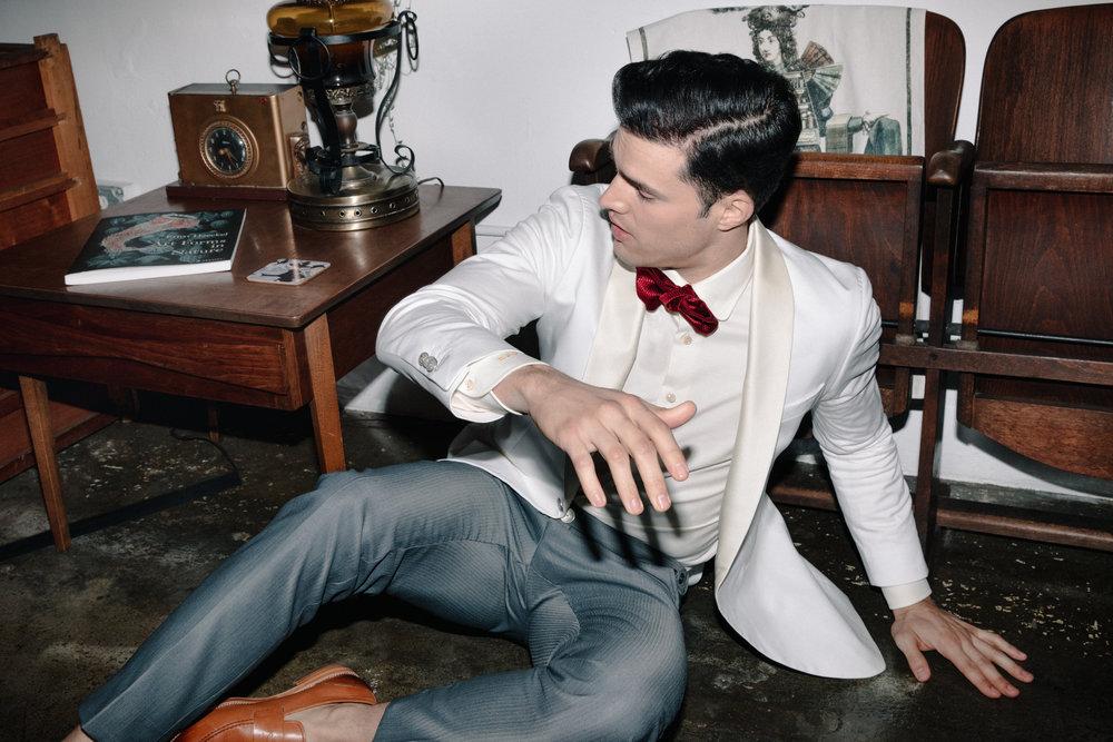 Model - Gil Soares (LA Models)  Made to Measure Suit  Klein Epstein & Parker - Portland