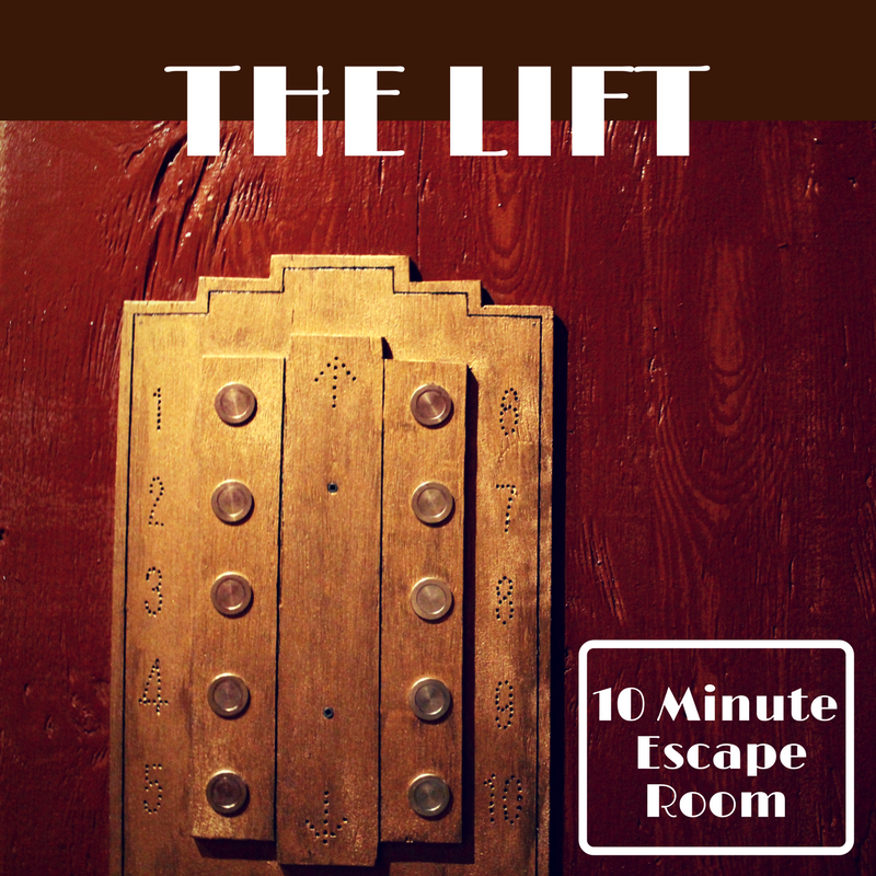Can You Escape The Lift?  - The Lift 10 minute escape room is an optional add-on to the event space.  Choose your team of four and see who can escape The Lift the fastest... or die trying.