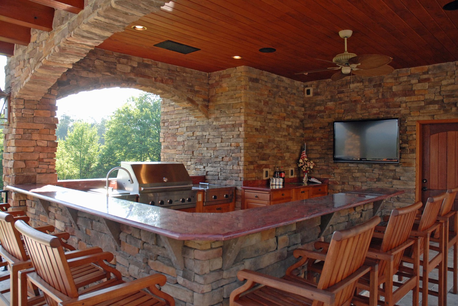 Stone Work — Bryant Lawn and Sprinkler Fort Worth on rustic wood outdoor kitchen, rustic tin outdoor kitchen, rustic stone outdoor kitchen,