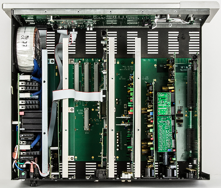 Top view of cards in the chassis