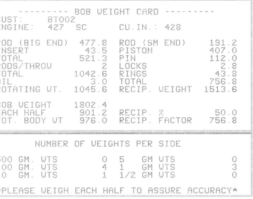 Engine Swartz Garage Ls7 Wiring Harness Ecu Pin Bob Weight Card