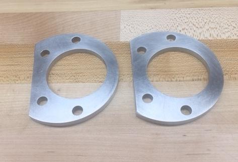 "Custom 0.25"" aluminum ball joint spacers"