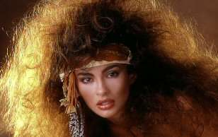 That hair, like stainless steel hose,is so 80s!