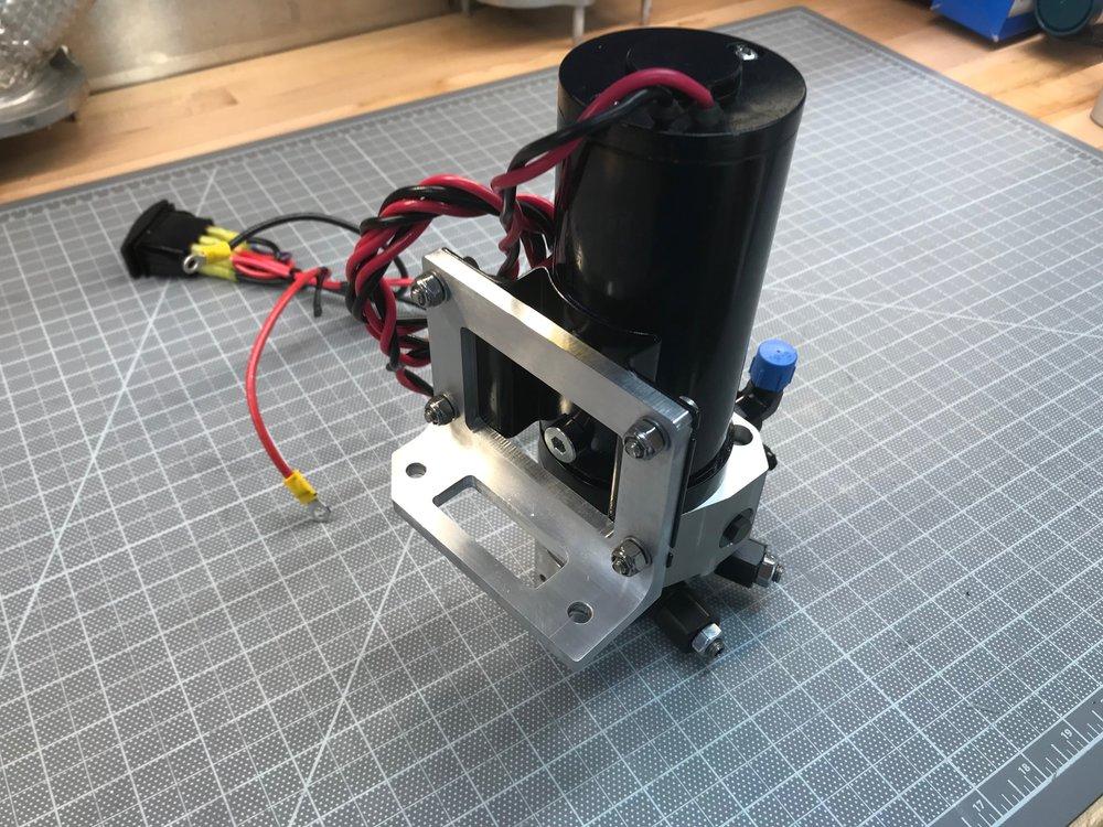 Bracket installed on pump