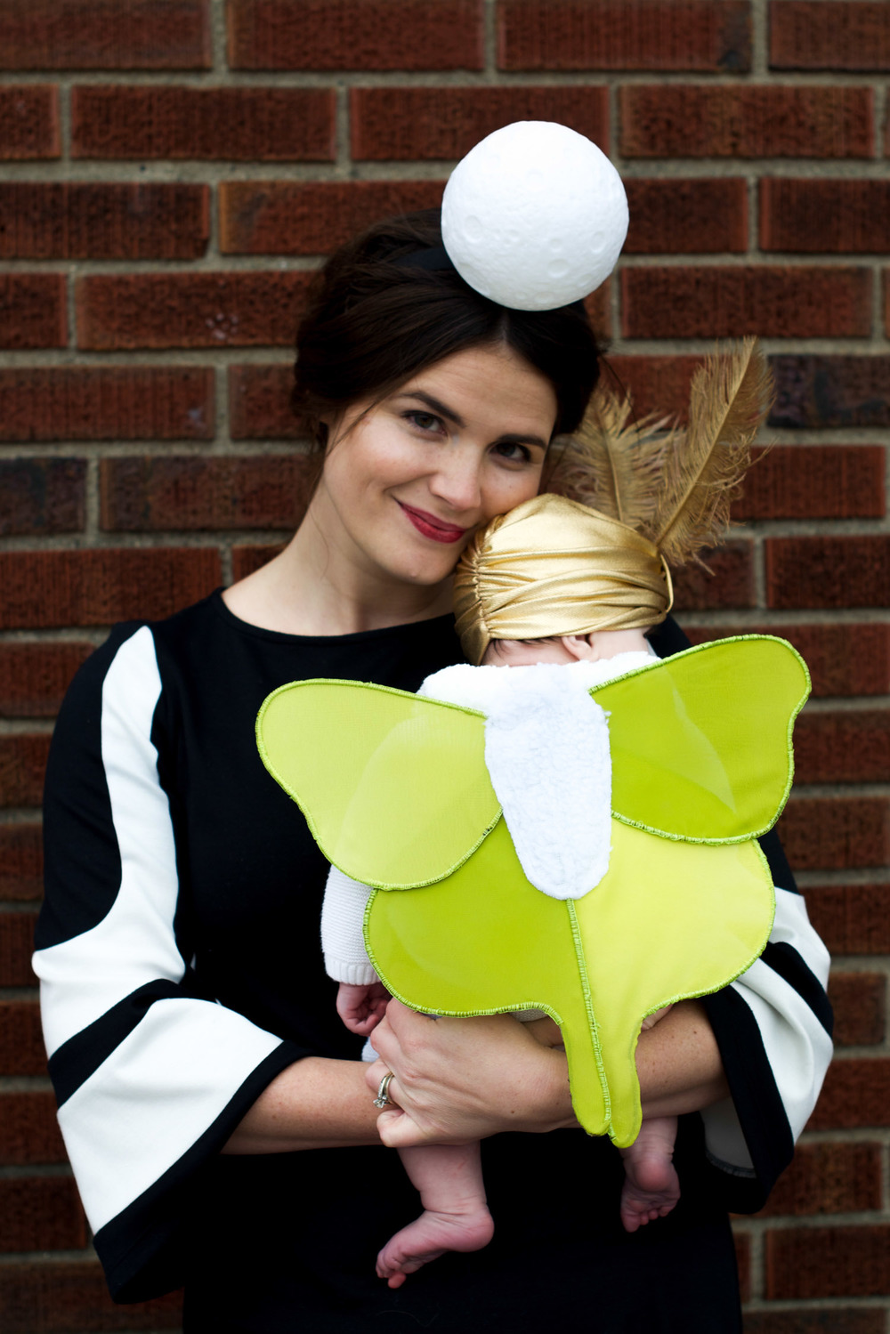 Baby Mother and Father Halloween Costume Luna Moth Entomologist Moon (1 of 12).jpg