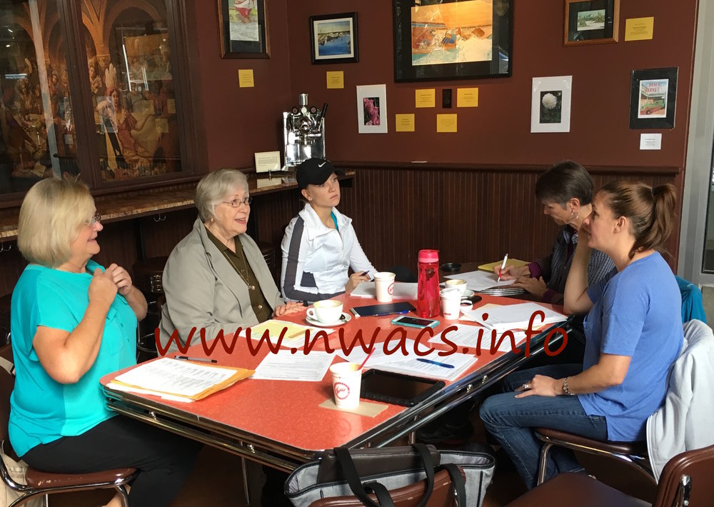 NWACS Board meeting in September 2016 to finalize plans for the Fall Conference in October and discuss future plans.