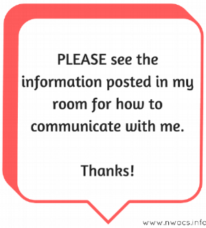 Click image or red text (above) to download a free printable door sign