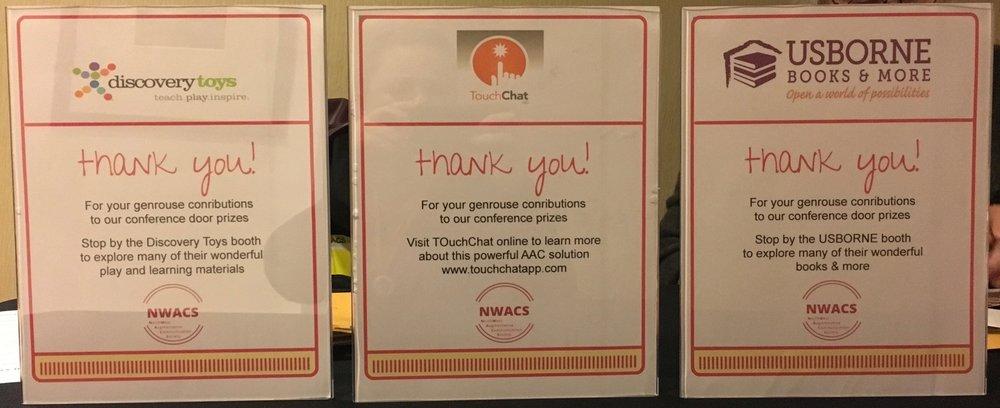 NWACS2017 Sponsor Thank Yous