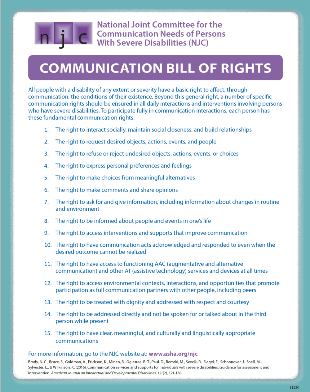 Communication Bill of Rights
