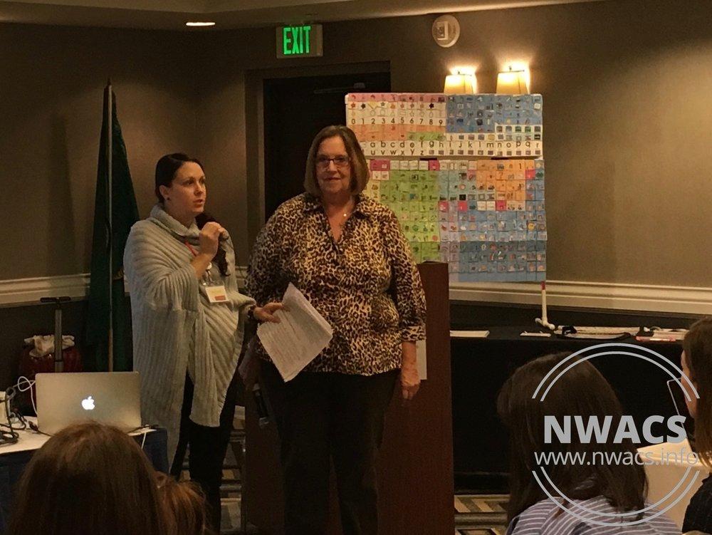 NWACS President Tanna introducing Gail Van Tatenhove