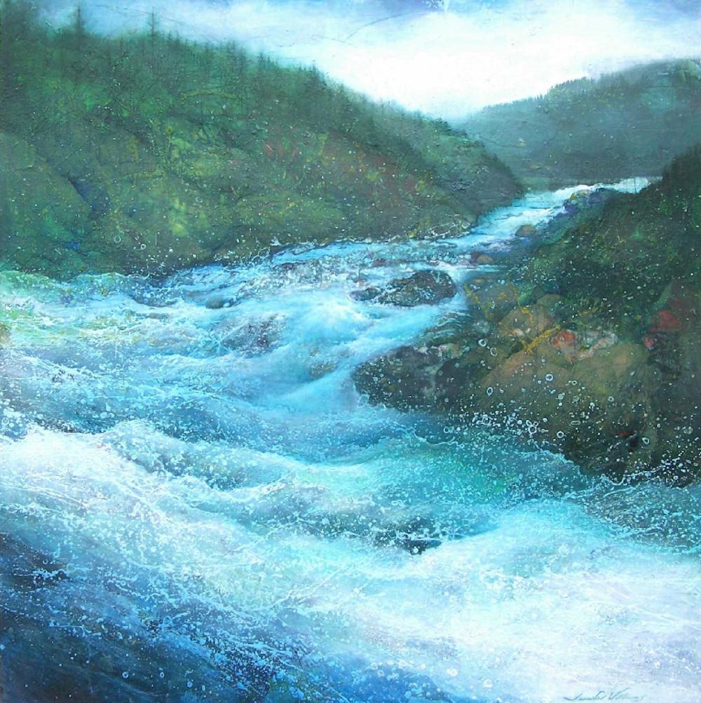 """""""River View"""", 48""""x48"""""""