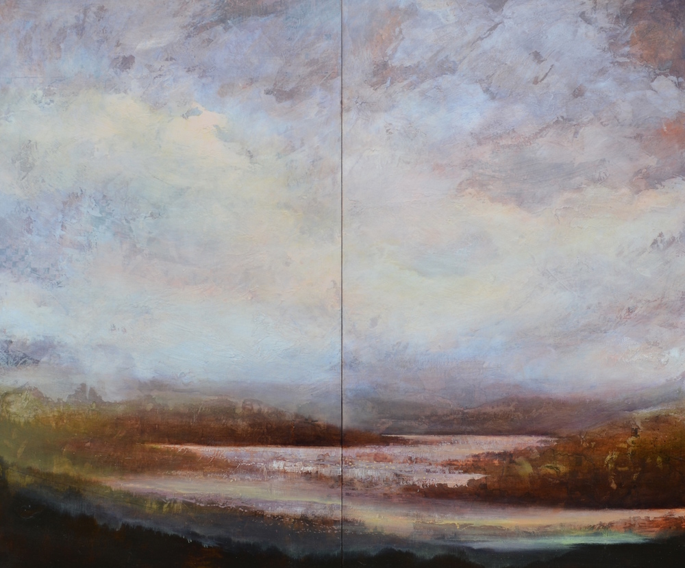 "Eastern Sky, 60""x60"", sold"