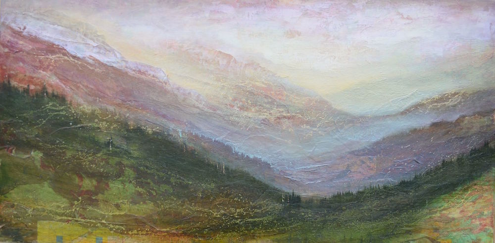 "Geography of Hope, 24""x 48"", sold"
