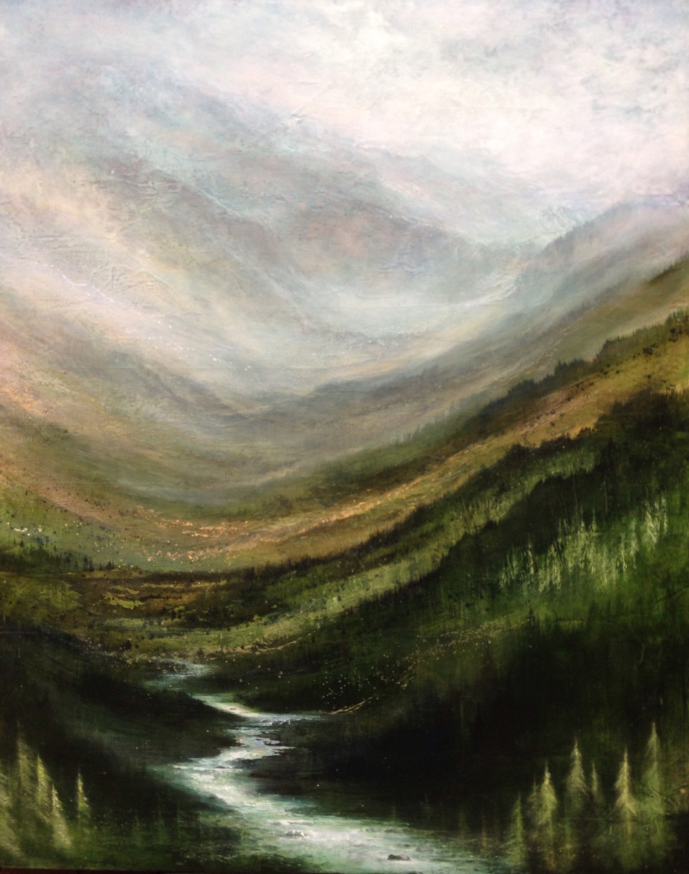"My Valley, 60""x48"", sold"