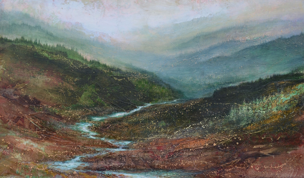 "Wilderness Remains, 36""x60"", sold"