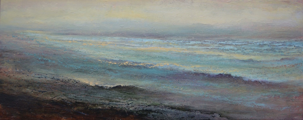 "Lunar Tide, 24""x 60"", sold"