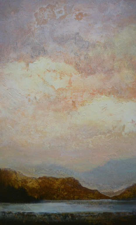 "Amber Sky, 24""x12"", sold"