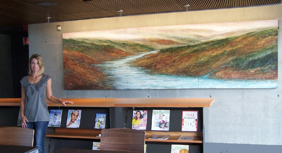 """""""River of Knowledge"""" 48"""" x1 92"""", Fort Vancouver Community Library, Vancouver WA"""