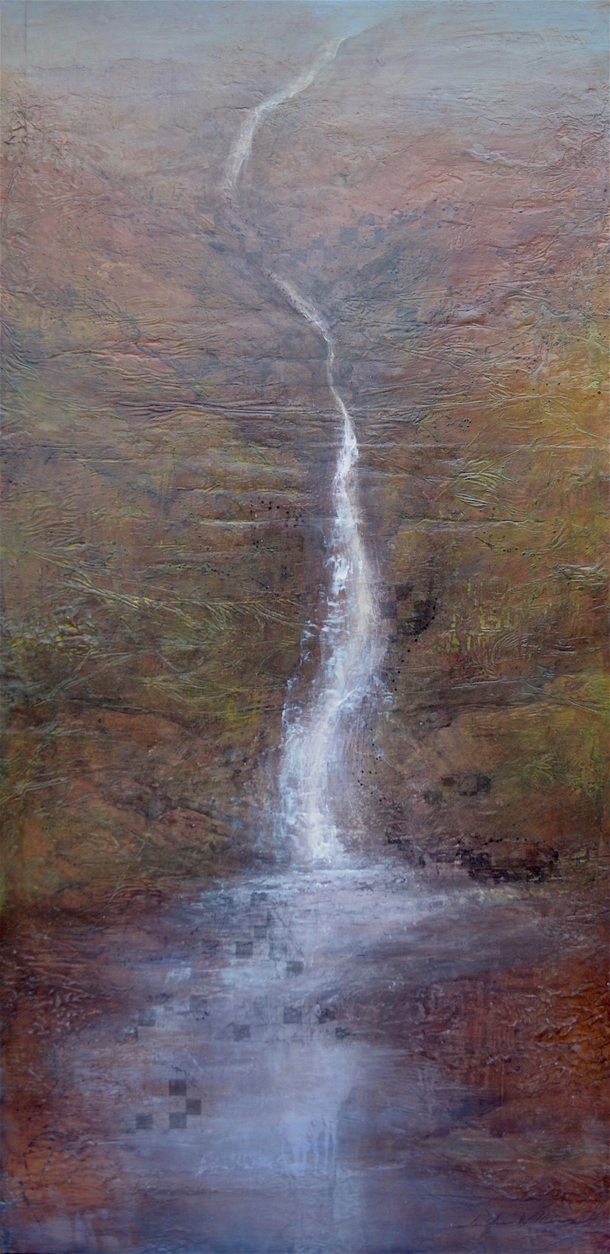"Falling Water , 48""x24""  sold"