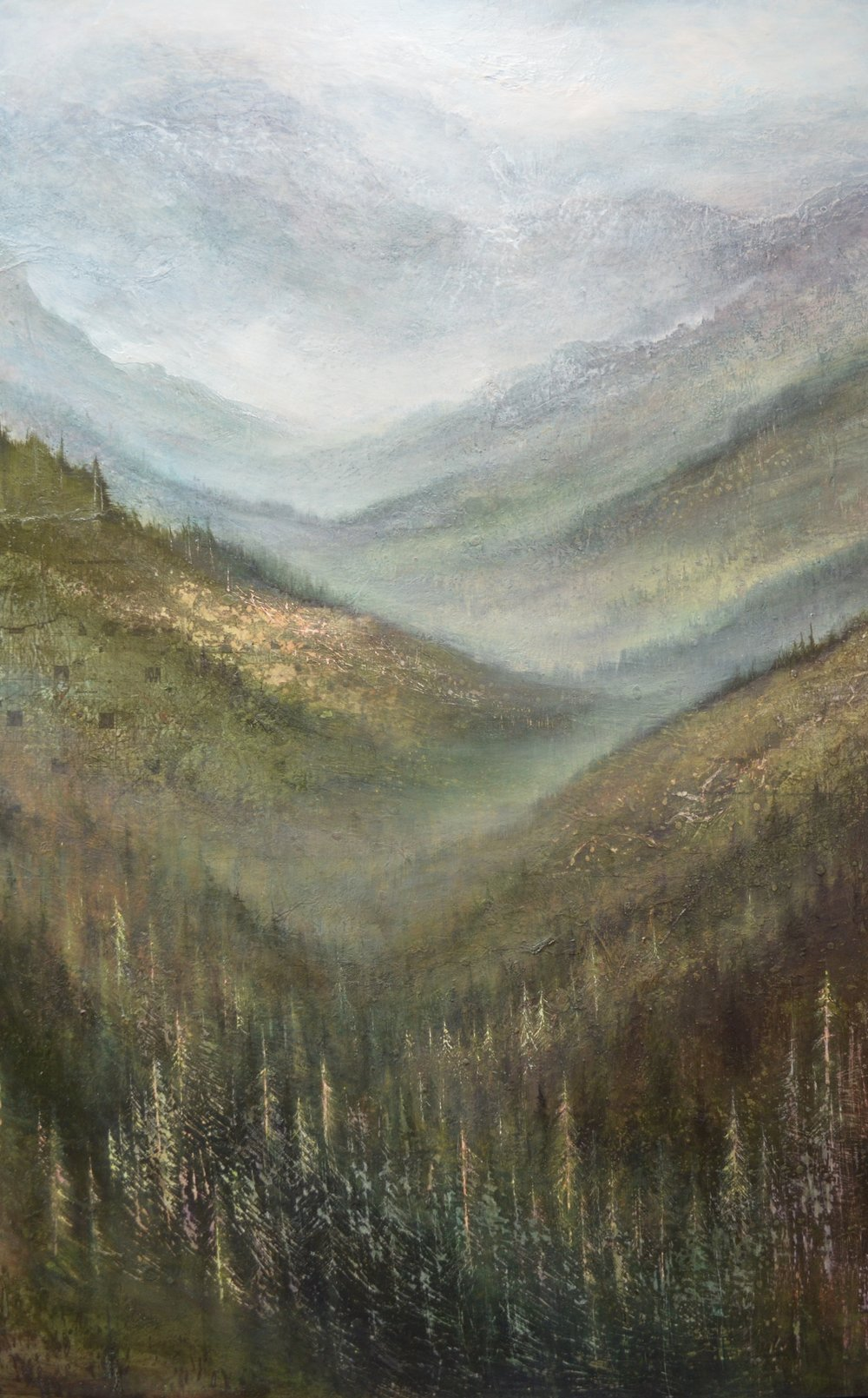 "White Pine , 60""x 40"" mixed media on wood ~ SOLD"