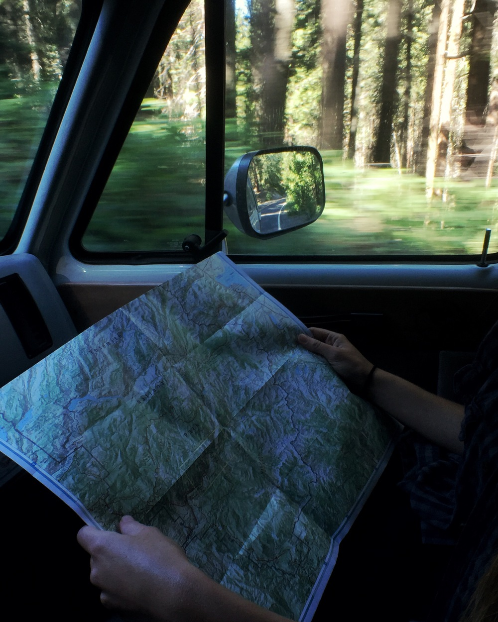 Cruising through Yosemite National Park.