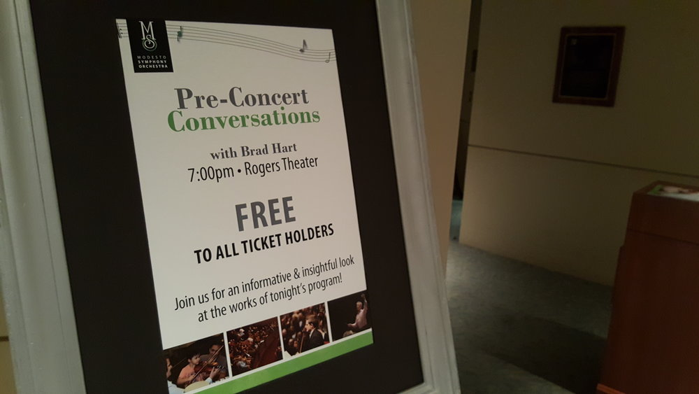 Time for three will be joining brad hart for the Pre-concert conversations on friday and saturday!