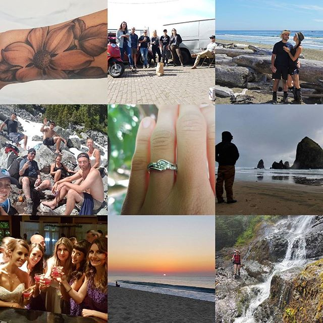Well, 2017 was quite a year... Tackled trails and treks, took memorable trips with some unreal friends, explored a little more of our coast, some new ink, my sisters wedding, and of course the engagement to my love.  Looking forward to 2018. I'm sensing some BIG changes, exciting new ventures, and a lot more exploring! 🤗🏃🏻‍♀️💏🏕️🌅💸💻