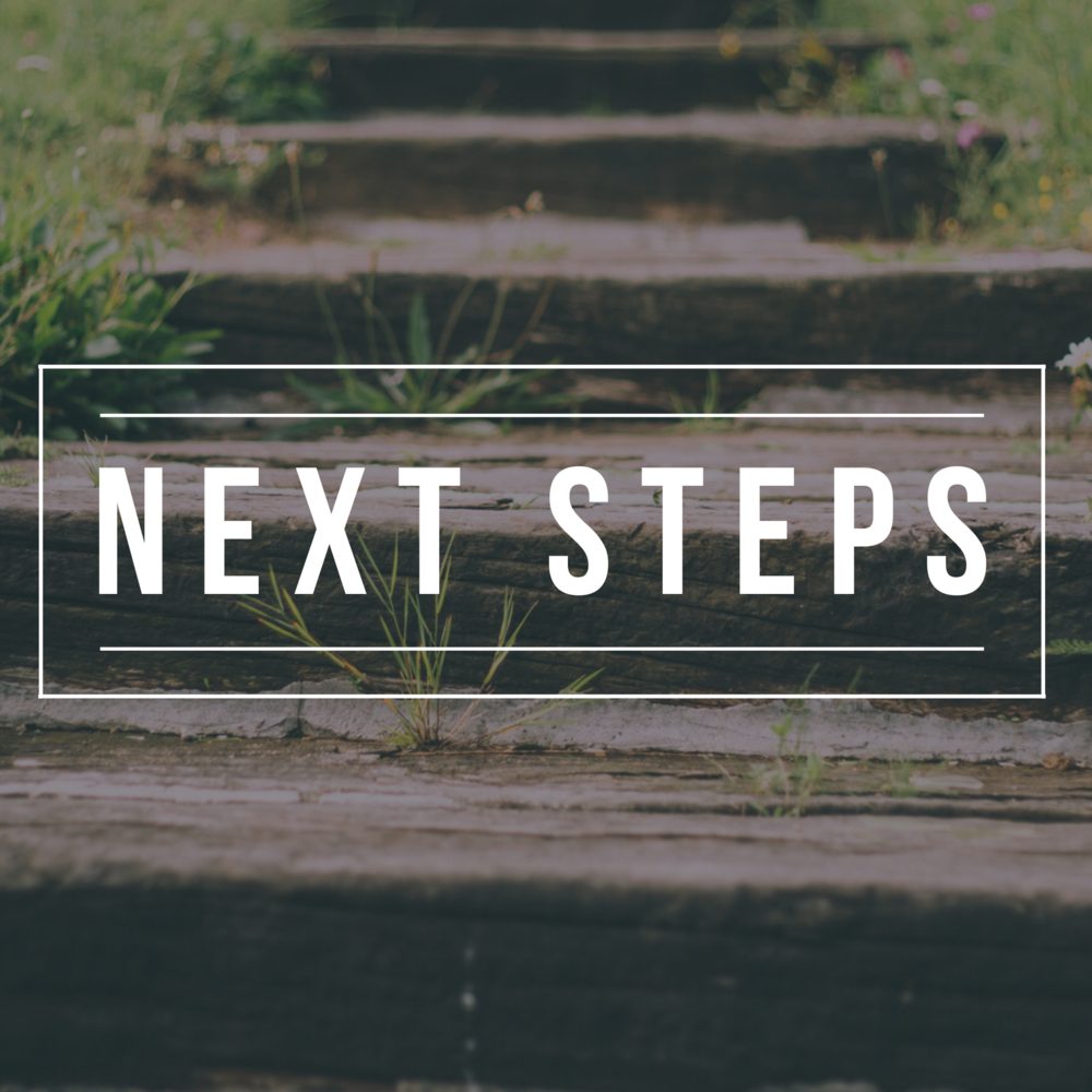 Next Steps So I am coming to church, now what?
