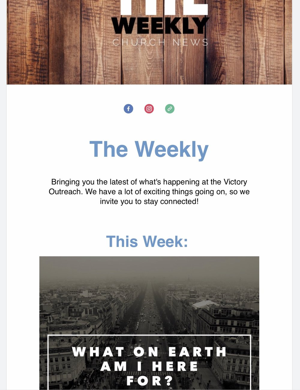 Stay connected - Click here for the weekly church news