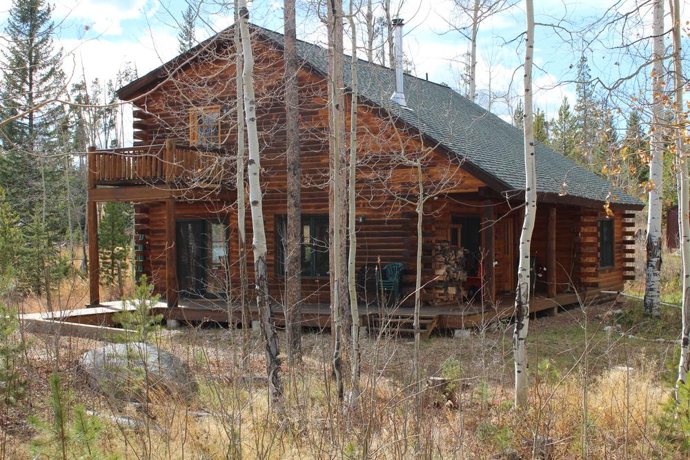 Log cabin vacation rental grand lake colorado for Grand lake colorado cabin rentals