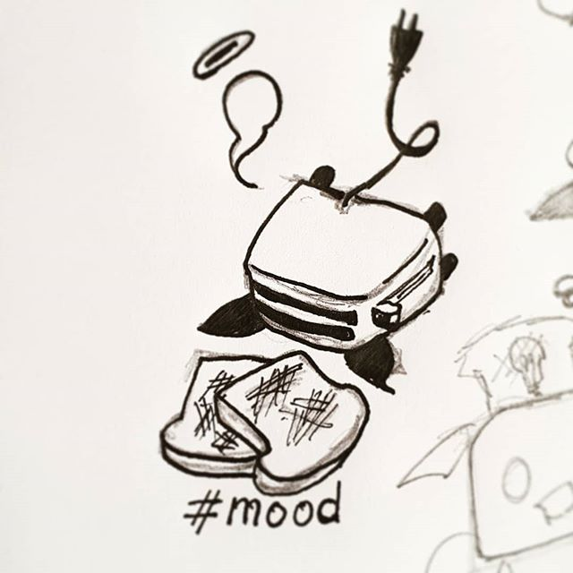 ⚰ . Missed inktober by ten days or so. Feel a little tired. Mmm i guess no more inktober until next year? Maybe I'll catch up. . . . . . . . #mood #doodle #art #toasted #inktober2018 #sadstuff