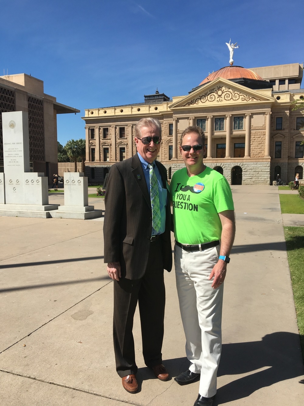 Here I am with my new friend Robert (Bob) who is a 3-time transplant recipient and a fellow volunteer. Today he also met with legislators along with Donate Life representatives to promote the cause