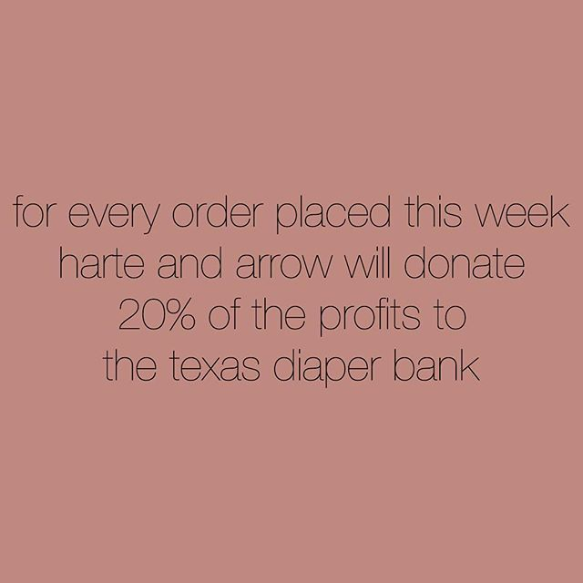 to help donate more to those affected by the storm in Texas we will be donating 20% of our proceeds this week . . . visit: harteandarrow.com learn more : texasdiaperbank.org . . . #wehartetexas #houstonstrong #prayforhouston #giveback #donate #volunteer  #hurricanharvey #harteandarrow #babyshop #shopsmall #givebig #usmade #americanmade #ethicalclothing #babyclothes #childrensclothes #finandvince #finandvinceforsale #finandvinceiso #picnik #picnikbarcelona #ryleeandcru #soorploom #mabo #organiccotton #sustainable #bestofmom #littleandbrave #letthembelittle #momsofinstagram