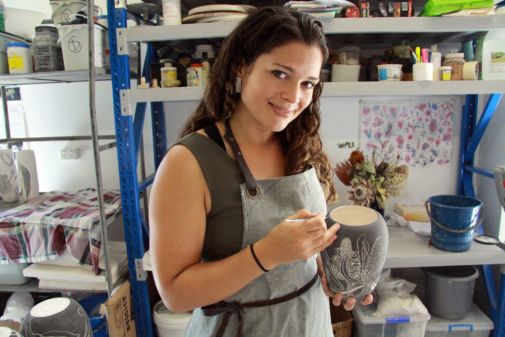 Danica Wichtermann in her studio