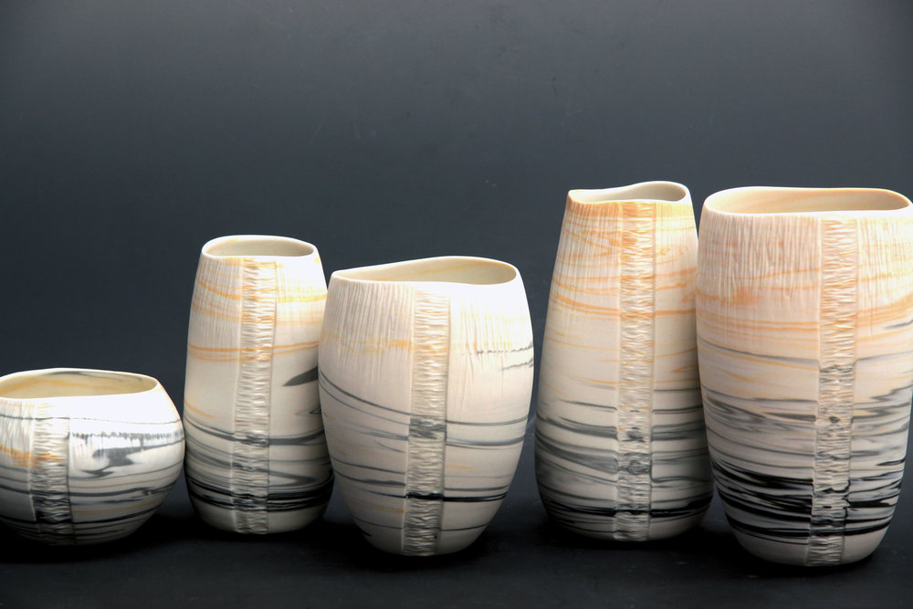 Marbled Ceramics- Striation Collection