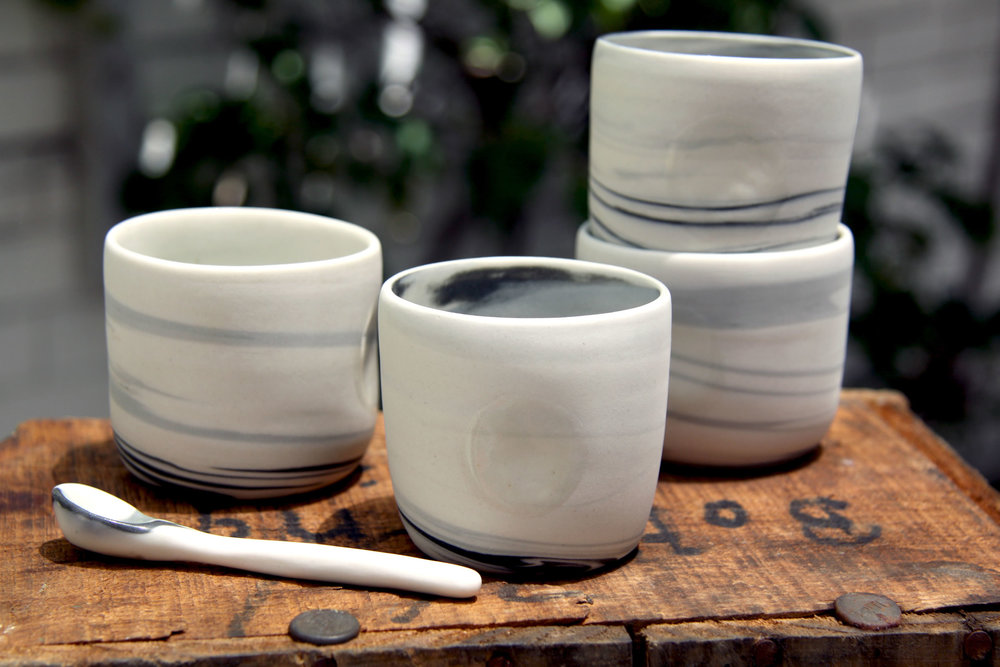 Mug Set, Porcelain Clay
