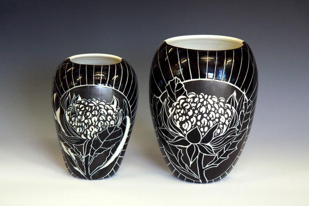 Waratah Botanical Vases