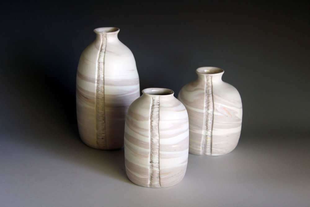 Striation Collection- Trio of Bottles