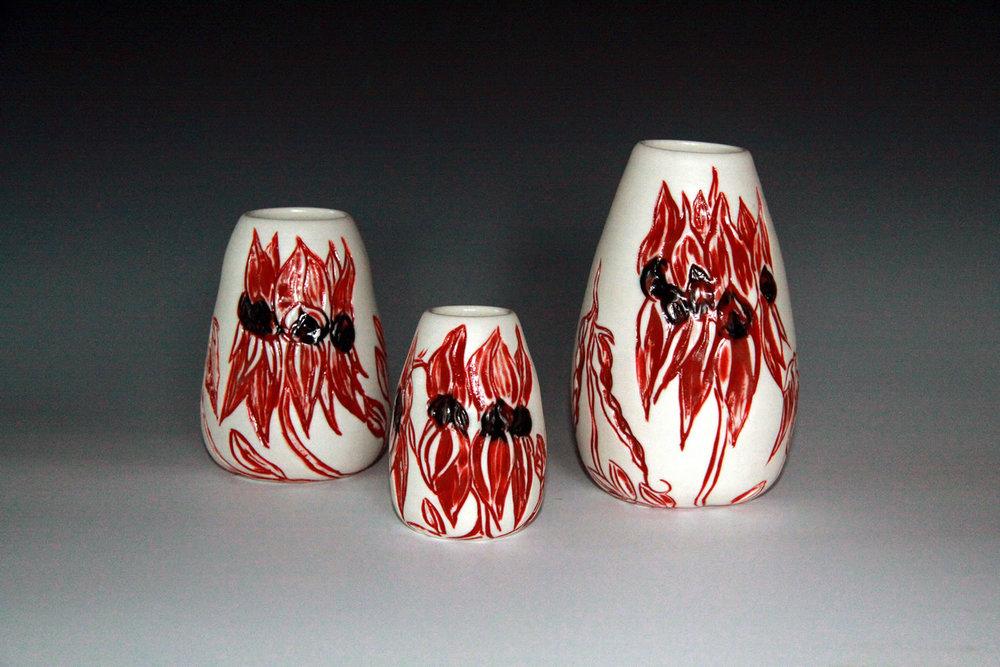 Sturt's Desert Pea Porcelain Vase