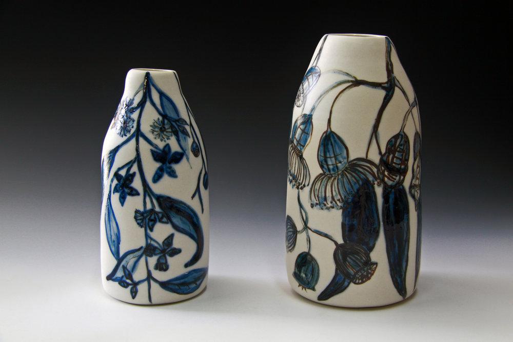Eucalyptus Porcelain vases