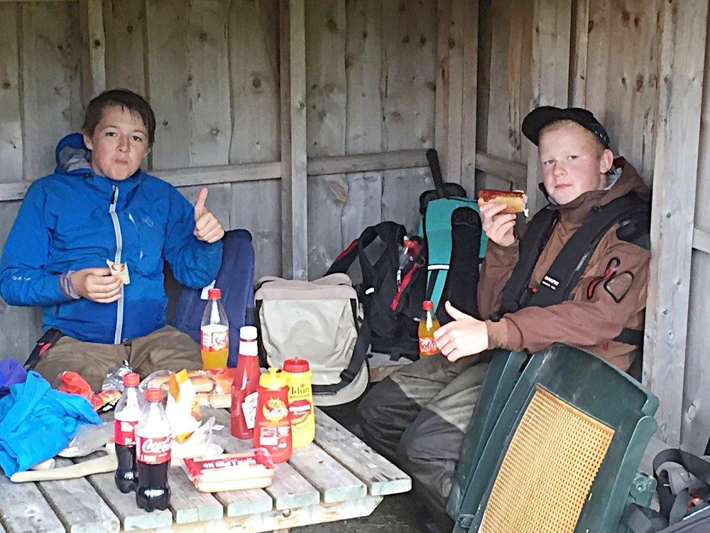 Håkon og Jørgen fra ungdomskveld i august.